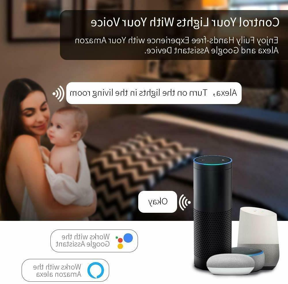 ⭐9W E27 Wifi Smart Bulb Google App CCT