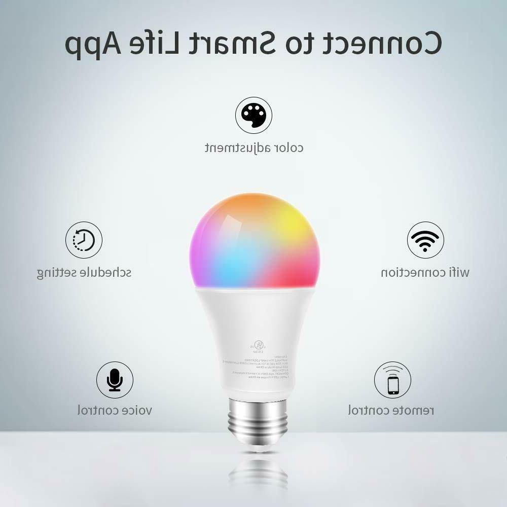WiFi Bulb RGBW 60W Dimmable App/Voice Remote Control 2700K