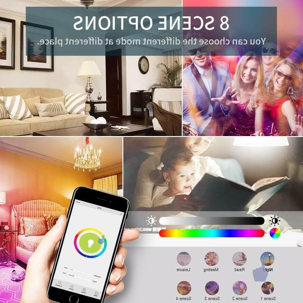 ⭐9W Smart Multi-Color Bulb Amazon Alexa Google App