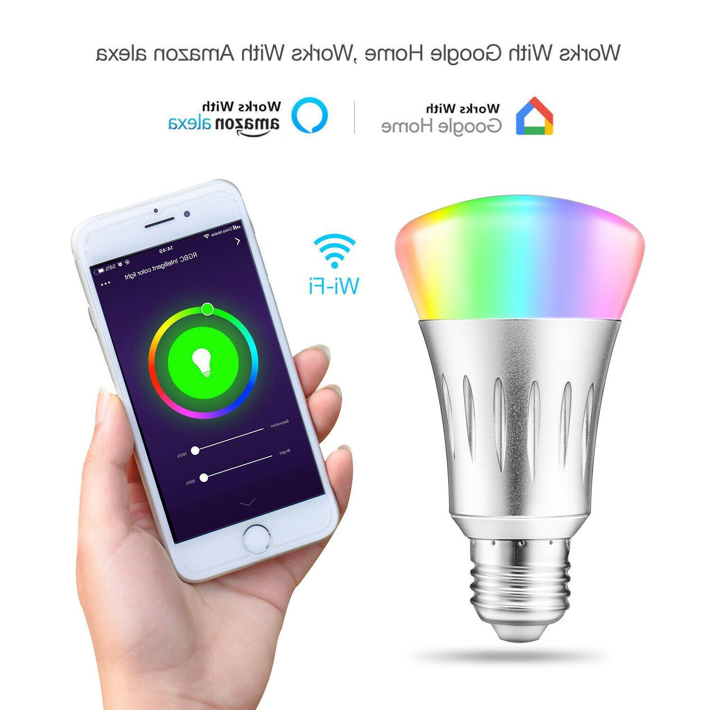 WiFi Bulb Bulbs RGB For Google Home /Alexa/IFTTT