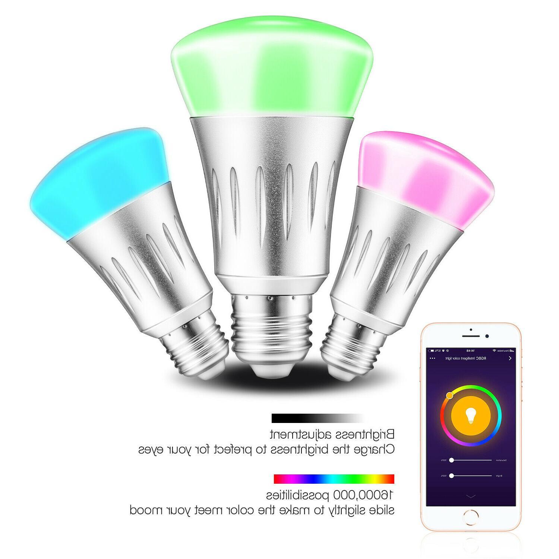 WiFi Smart Bulbs RGB /Alexa/IFTTT