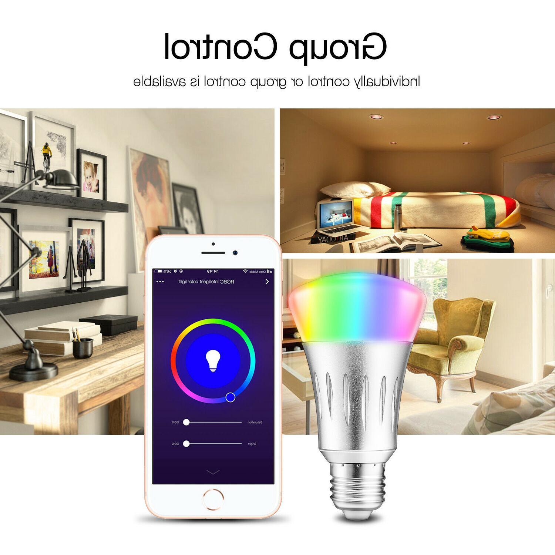 WiFi Smart Bulbs Dimmable RGB For /Alexa/IFTTT