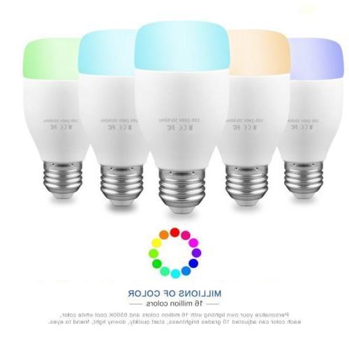 WiFi Light LED Bulb 10W E26 E27 for Alexa Echo Google
