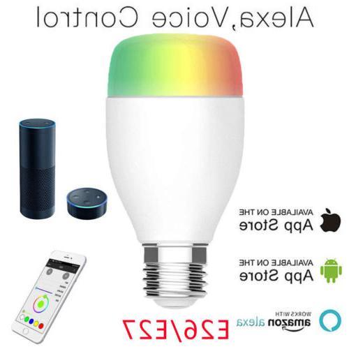 WiFi Smart Bulb E26 E27 Amazon Echo Home
