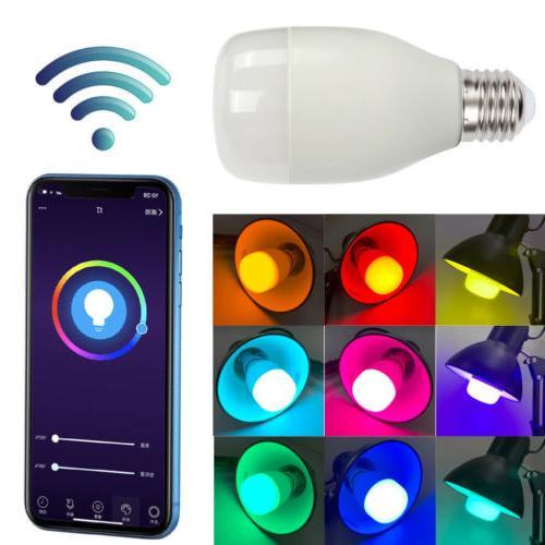 WiFi Smart Bulb RGBW E27 Amazon Echo Google