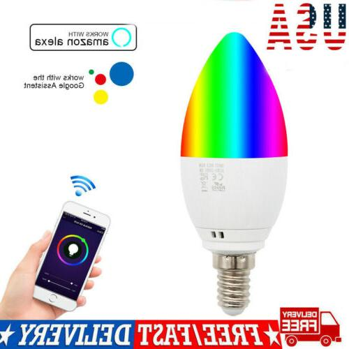 wifi smart multi color bulb led light