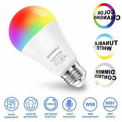 Wifi Smart Light Bulb for Alexa/Google Home Control