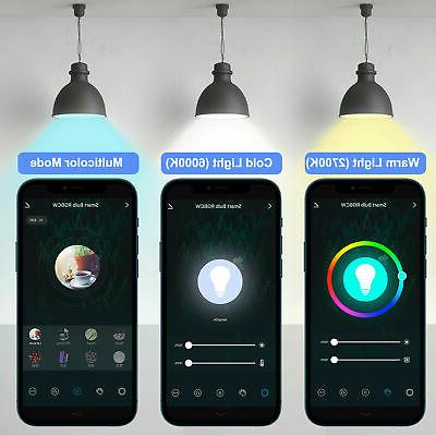 Wifi Multi-Color Light Bulb for Alexa/Google Home Control