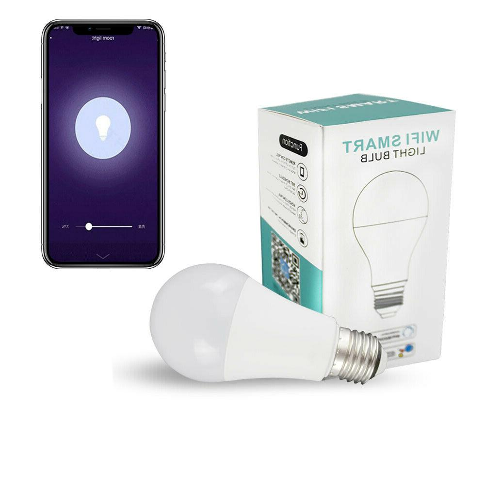 Wifi Smart LED Light Bulb Alexa/Google Home App Control