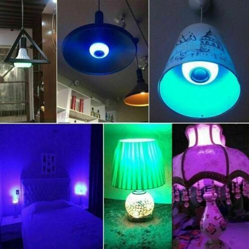 Wireless LED Light Bulb Speaker 12W Smart Music Lamp +
