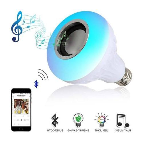 E27 Bulb LED Light RGB Color Wireless Remote Lamp