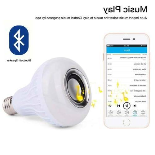 E27 LED Light RGB Color Wireless 12W Lamp CP
