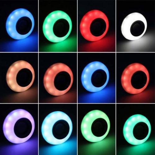 E27 Bulb Speaker LED Light Music RGB Color Wireless Lamp CP