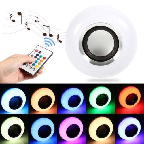 E27 LED RGB Color Wireless Lamp