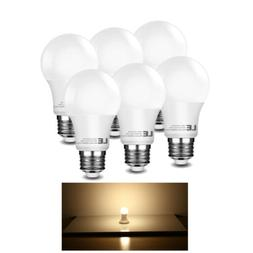 LE 60 Watt Equivalent A19 LED Light Bulb, Warm White 2700K,
