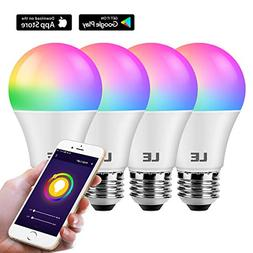 LE WiFi Smart Light Bulb, Color Changing, RGBCW & CCT , Comp