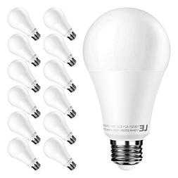 LE A21 E26 LED Light Bulbs, 15W Dimmable, 100W Incandescent