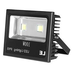 LE Outdoor LED Flood Light, 100W 10150LM, IP65 Waterproof, 2