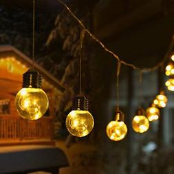 LE 25Ft G45 Globe String Lights with 25 LED Bulbs, Warm Whit