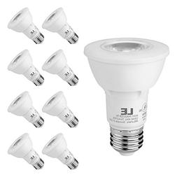 LE PAR20 E26 LED Light Bulbs, Medium Screw Base, 7W Dimmable