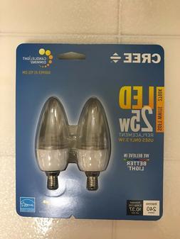 CREE LED 25W = 3.1W Candelabra Soft White DIMMABLE 25 Watt E