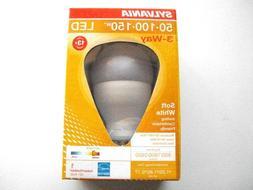 Sylvania LED 3-Way Soft White Light Bulb 50-100-150 Lasts 13