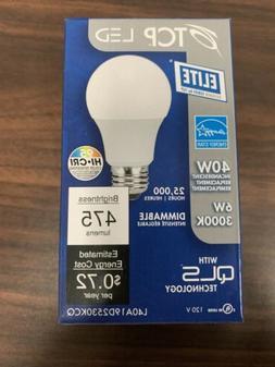 TCP LED 40W 6w LED Bulb L40A19D2530KCQ 475 Lumens 3000K Dimm