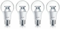 Philips LED 60W Equiv. A19 Soft White Warm Glow Bulb  Dimmab