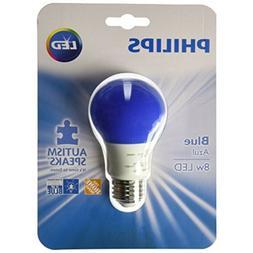 Philips LED blue 8 watt Autism Speaks light bulb