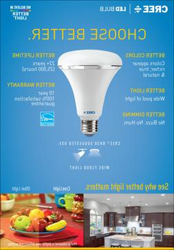 CREE LED BR30 Flood Light Bulb Daylight 5000k 7 W = 65 W Dim
