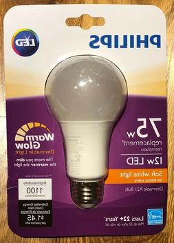 Philips Led Bulb Dimmable 12W 2700K A21 Soft White 75W Repla