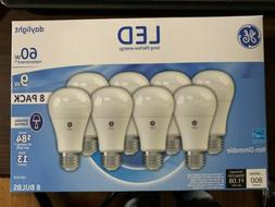 GE LED Bulbs, Daylight, 9W A19 8 Pack. Non-Dimmable, 800 Lum