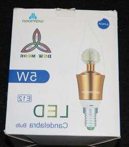 Warmoon LED Candelabra Bulb,DSW Mode 3 illuminating Colors S