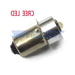 LED CREE Flashlights Bulb P13.5S 3W Replacement White for DC