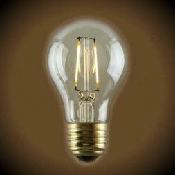LED Filament A19 Edison Bulb - 1.5 Watt - Amber - 2500K - 25