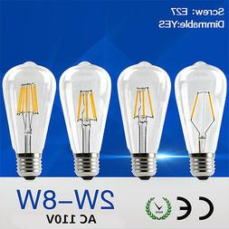 led filament edison bulb st64 dimmable retro