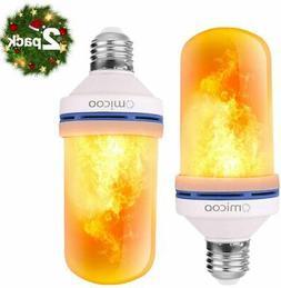 LED Flame Effect Light Bulb 2 Pack 4 Modes Flame Light Bulbs