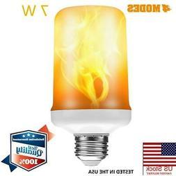 LED Flame Effect Light Bulbs E26/E27 Fire Flickering Light B