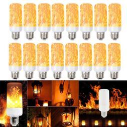 LED Flame Light Bulbs Simulated Burn Fire Effect Xmas Flicke