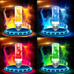 LED Flicker Flame Light Bulb E27 Simulated Burn Fire Effect