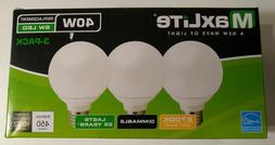 MaxLite LED G25 Vanity Bulb 3 Pack Dimmable 40W  6W Replacem