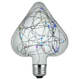 Sunlite LED Heart Multi-Color 1.5w Decorative Light Bulb - E