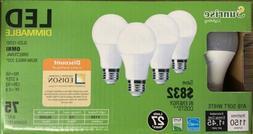 Led Light Bulb, 4 Sunrise 12w=75w Led Dimmable Light Bulbs,