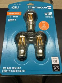Ecosmart LED Light Bulb 60-Watt Soft White Clear Glass Vinta