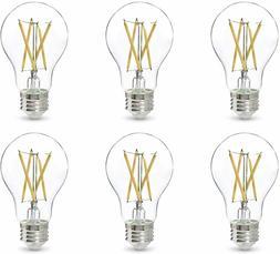 LED Light Bulb A19 60 Watt Clear, Soft White, Dimmable  Amaz