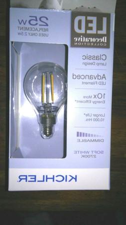 Kichler LED Light Bulb Decorative Collection G16.5C Candelab