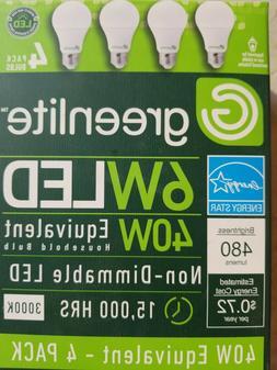 Greenlite LED Light Bulbs 6 Watt  4 Pack Bulbs           B-G
