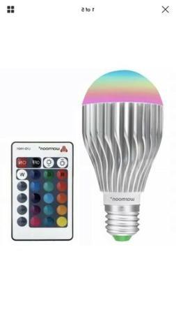 Warmoon LED Light Bulbs E27 10W Color Changing Lighting