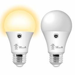 2Pack-Sensor Light Bulb Dusk to Dawn LED Smart Light Bulb Fo