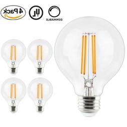 4x 7W Edison G25 Led Bulb Globe Light Dimmable 80W Equivalen